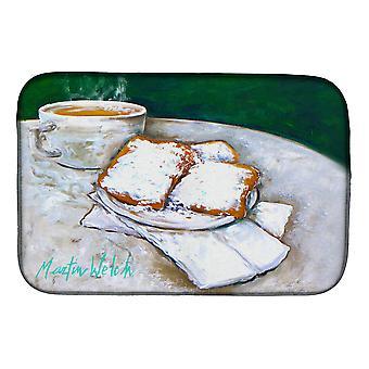 Carolines Treasures  MW1271DDM Breakfast Delight Beignets Dish Drying Mat