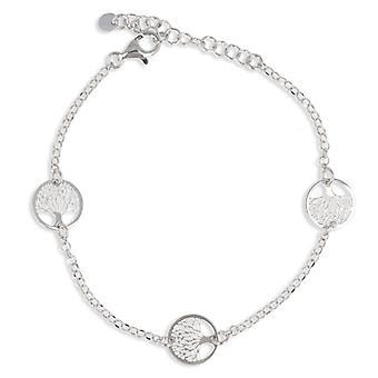 Silver Bracelet Rhodié Tree Of Life 18cm