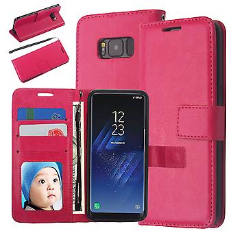 Portefeuille Case Galaxy S8, 3 cartes/ID, Rose