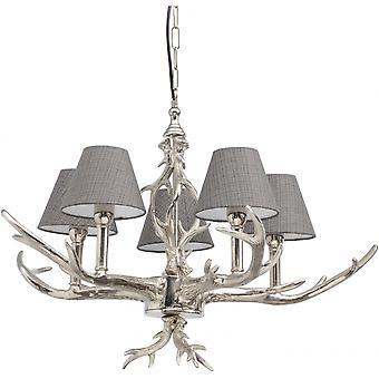 Libra möbler nickel hjort horn hänge