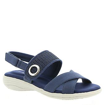 Easy Street Womens Shae Fabric Open Toe Casual Sport Sandals
