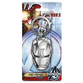 Metalen sleutelhanger-Marvel-Iron man hoofd tinnen keyring geschenken speelgoed nieuwe 67966