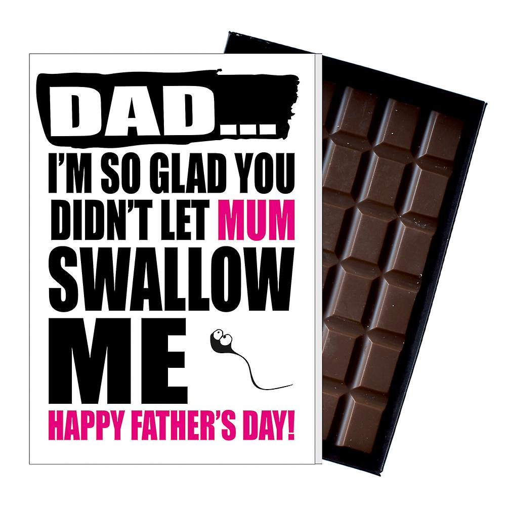 Funny Father's Day Gift Silly Chocolate Present Rude Card For Dad DADIYF108