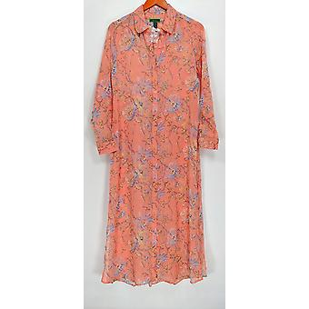 C. Wonder Women's Robes Spring Floral Print Button Pink A286676
