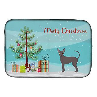 Abisinia o africana sin pelo perro de Navidad árbol de navidad plato de secado Mat