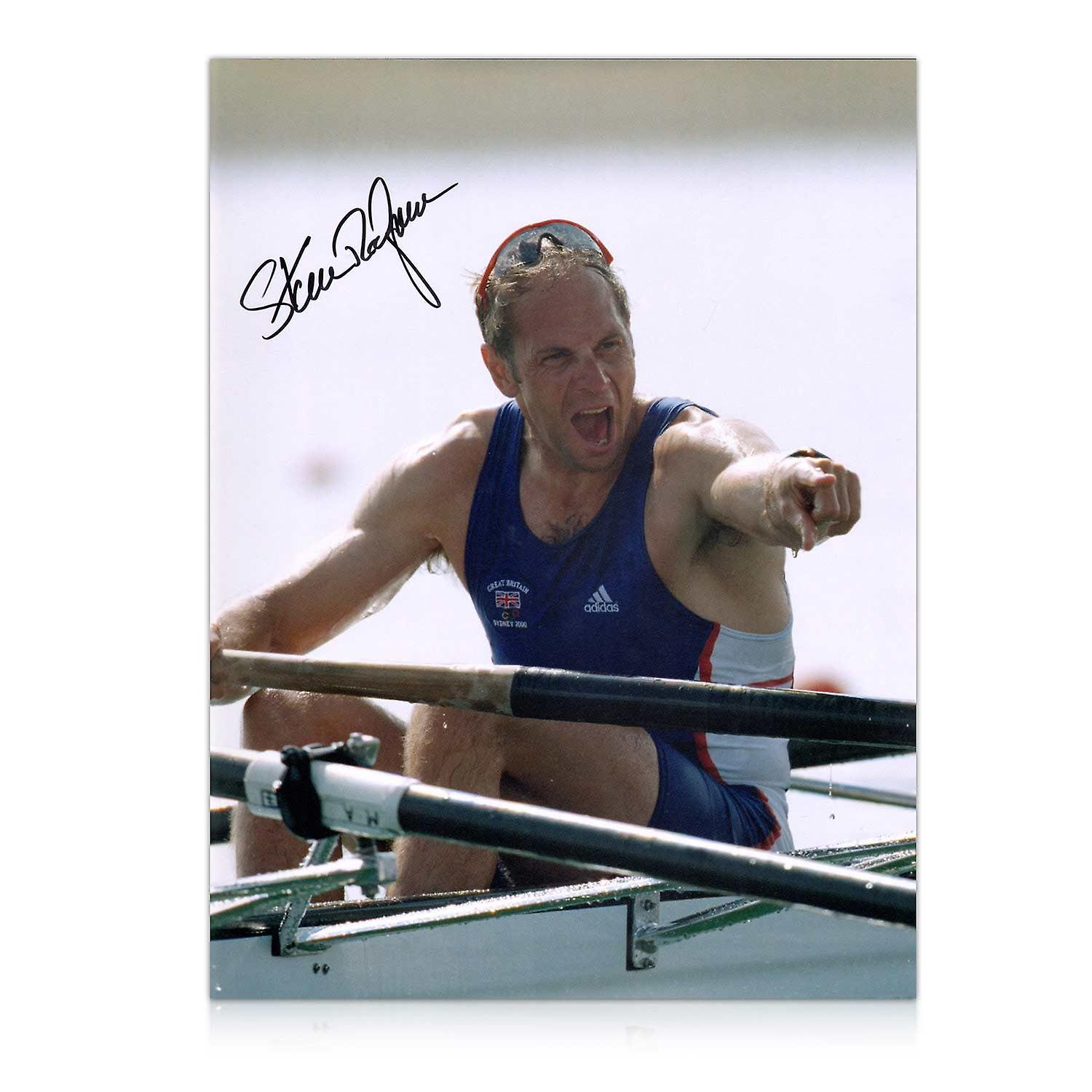 Steve Redgrave Signed Rowing Photo: Five Time Olympic Champion. In Deluxe Frame