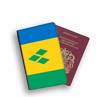SAINT VINCENT AND THE GRENADINES Flag Passport Holder Style Case Cover Protective Wallet Flags design