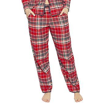 Cyberjammies 4255 kvinder ' s Belle Red mix check bomuld pyjamas pant
