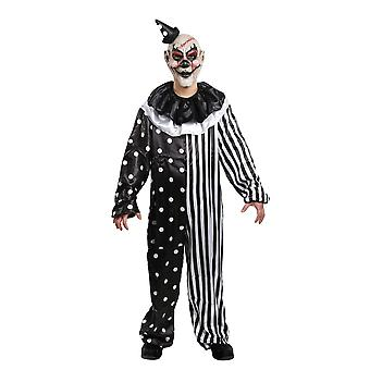 Kill Joy Clown Joker Jester Horror Creepy Evil Scary Halloween Mens Costume OS