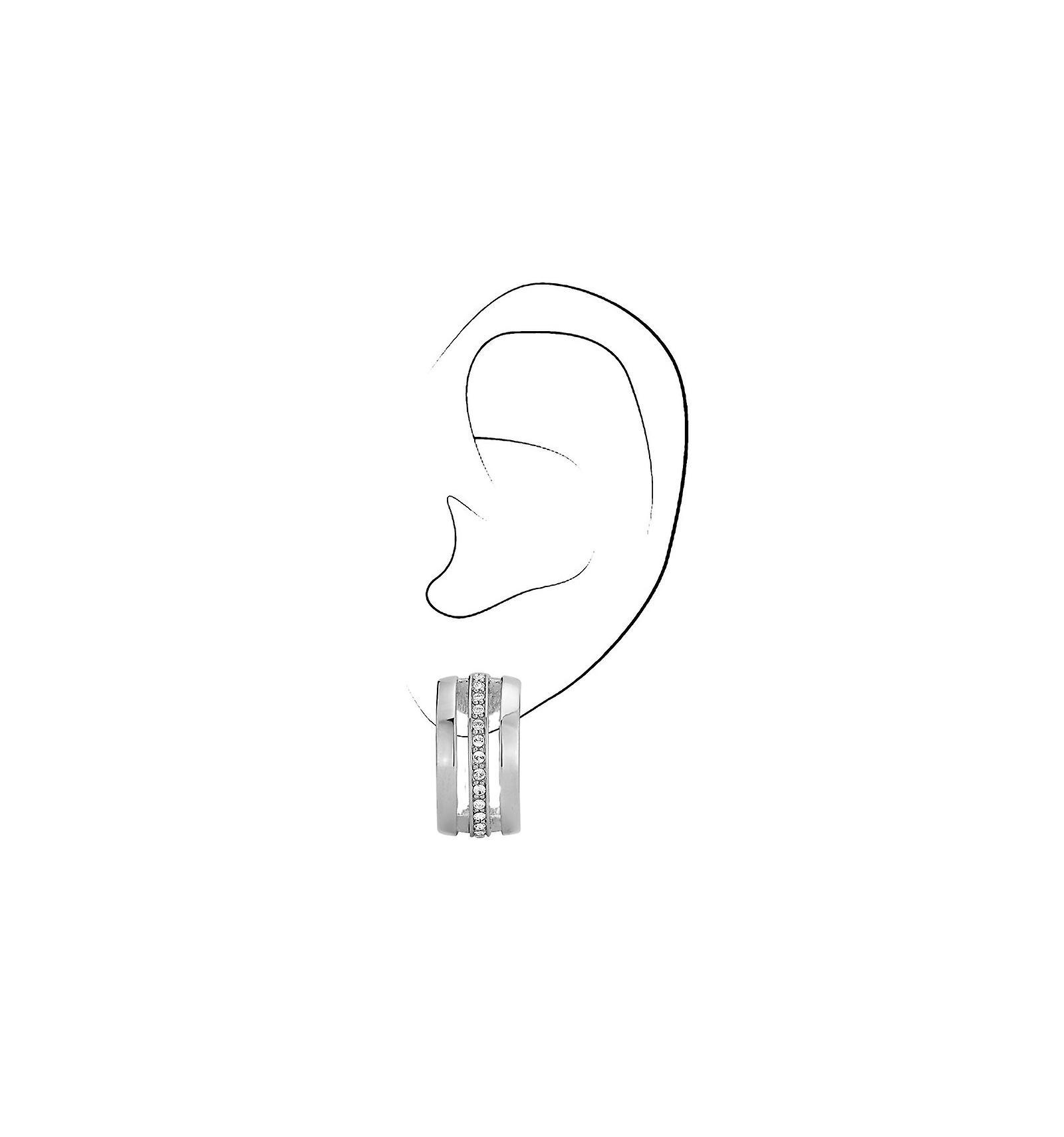 Traveller clip earring - rhodium plated - Swarovski Crystals - 157082