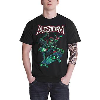 Alestorm T Shirt Pirate Pizza Party Skater Band Logo nou Oficial Mens Negru