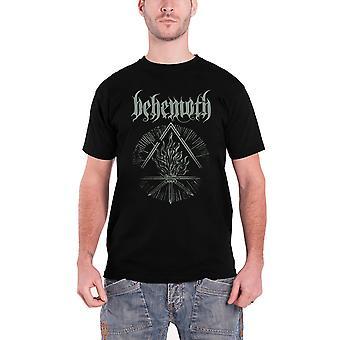 Behemoth تي شيرت فوران Divinus شعار الفرقة الرسمية الرجال الأسود