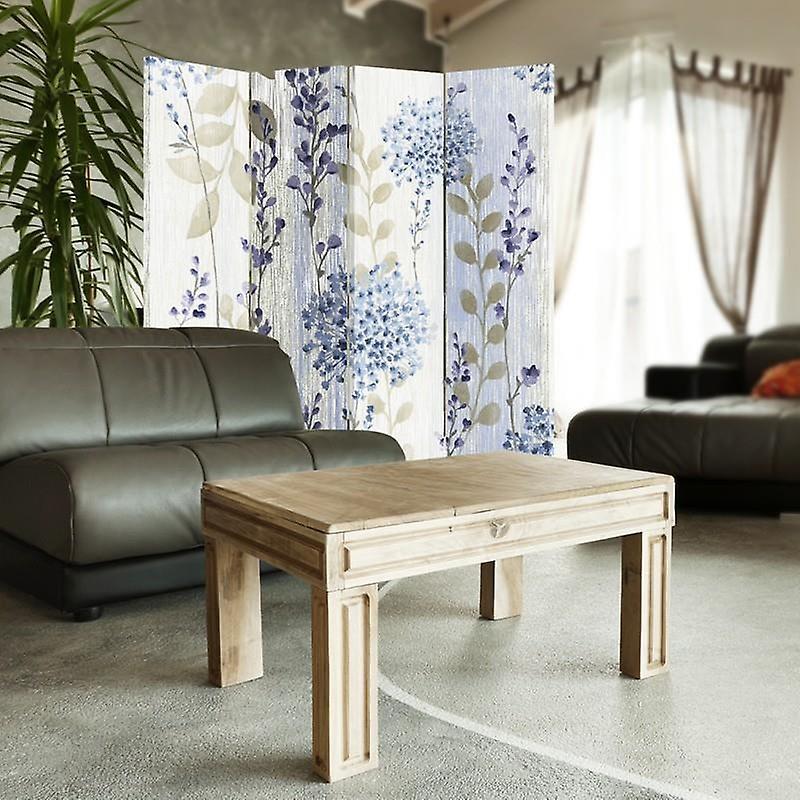 Diviseur de chambre, 4 panneaux, toile, modèle de fleur 2