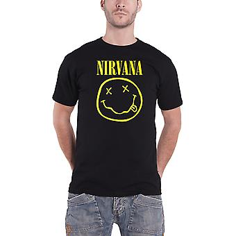 Nirvana T Shirt Classic Face Album Band Logo Official Mens New Black