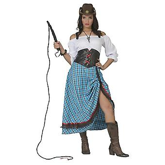 Cowgirl Lang Damenkostüm Westernlady Wild West Karneval Fasching Kostüm Damen