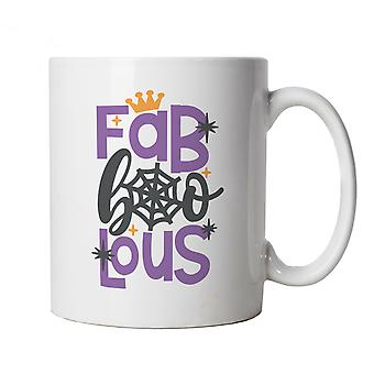 Fab Boo Lous Mug | Halloween Fancy Dress Costume Trick Or Treat | Hallows Eve Ghost Pumpkin Witch Trick Treat Spooky | Halloween Cup Gift