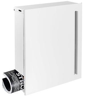 Ontwerpen van mailbox met krant vak signaal wit (RAL 9003) MOCAVI vak 110 muur brief vak 12 liter