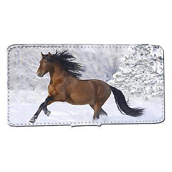 Samsung S8 Monedero Caso Snow Horse Shell Caso