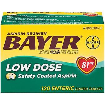 Bayer aspirina de Baixa Dose 81 mg 120 comprimidos revestidos entéricos garrafa
