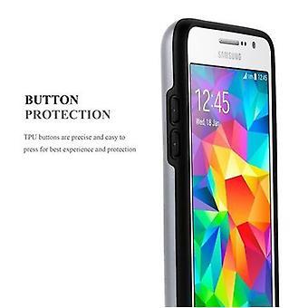 Futerał Cadorabo do Samsung Galaxy GRAND PRIME - Etui w ARMOR SILVER - Etui na telefon z tacą na kartę - Silikonowa obudowa TPU do pokrowiec hybrydowy w konstrukcji outdoor heavy duty