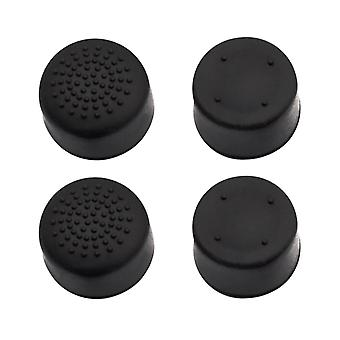 Impugnature per sony playstation 4 tappi analogici in silicone xl - 4 pack nero
