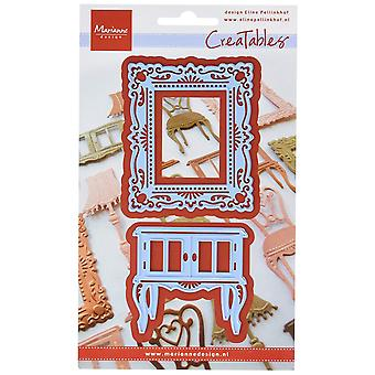 Ecstasy Crafts Marianne Design Creatables Dies, 2.5 by 3-Inch, Eline's Cupboard and Frame