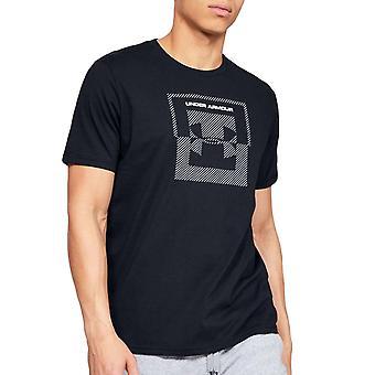 Under Armour UA Mens Inverse Box Short Sleeve Crew Neck Tee Top T-shirt - Black