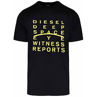 Diesel Diesel svart J5 logo T-skjorte