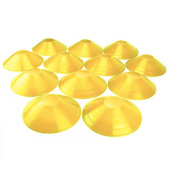 Set of 12, Two-Inch Tall Yellow Field Cones