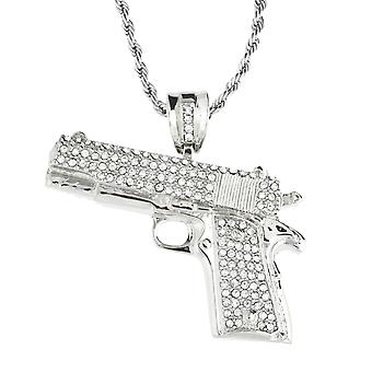 Iced Out Bling Hip Hop Necklace - PISTOLE