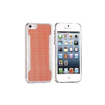 Silver Orange Contour Plastic Shell For IPhone 5