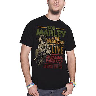 Bob Marley T Shirt Rastaman Vibration Tour 1976 new Official Mens Black