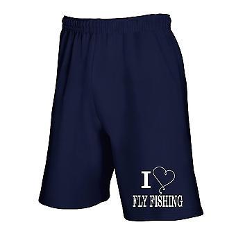 Navy navy blue jumpsuit shorts gen0234 i heart fly fishing