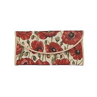Poppy women's money wallet by signare tapestry / enve-pop