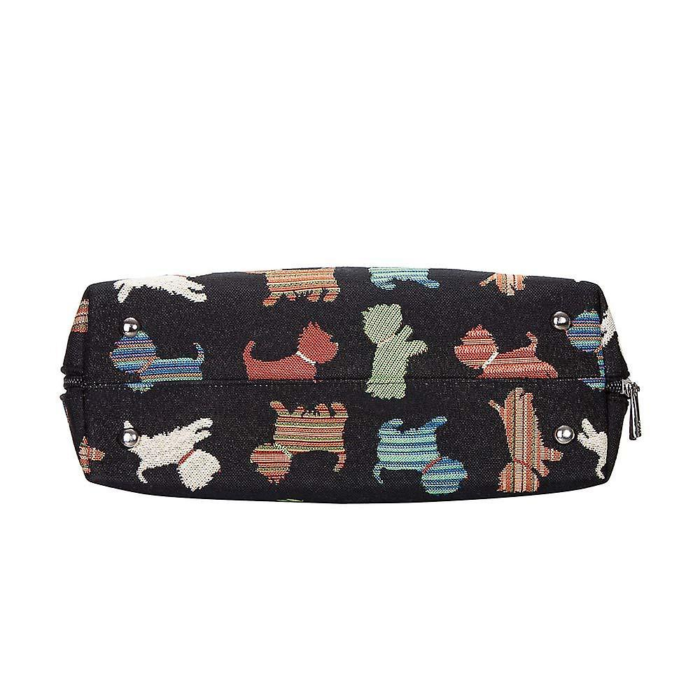 Playful puppy top-handle shoulder bag by signare tapestry / conv-puppy