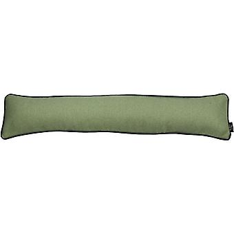 Mcalister textiles herringbone boutique green + grey draught excluder