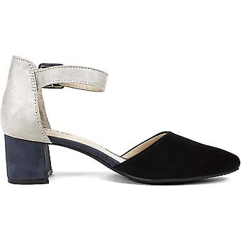 Rialto Womens Mayer Fabric Closed Toe Ankle Strap Classic Pumps