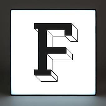 F Alphabet Lightbox