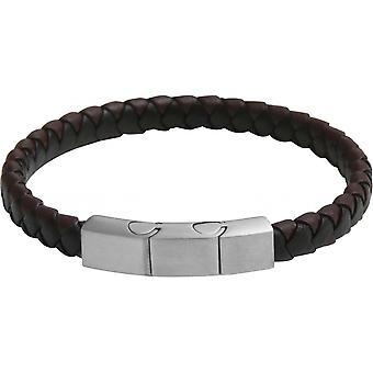 Clio Blue BR2376S - Black Brown closing steel man Bracelet bracelet