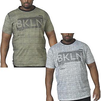 Duke D555 Mens Big Tall King Size NewYork Casual Short Sleeve Cotton T-Shirt Top