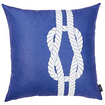 """18""""x18"""" Nautical Knot Decorative Throw Pillow Cover Printed"""
