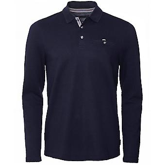 Ted Baker Textured Long Sleeve Recline Polo Shirt