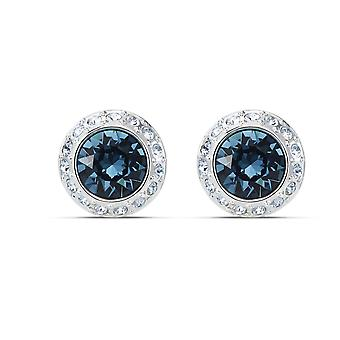 EARRINGS D-apos;OREILLES Swarovski 5536770 - Earrings M tal Round Crystals Blue and White Women