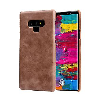 Pour Samsung Galaxy Note 9 Case,Genuine Leather Thin Phone Cover,Dark Brown