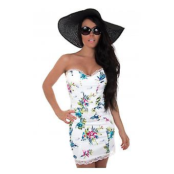 Tia Floral Lace Bodycon Dress In
