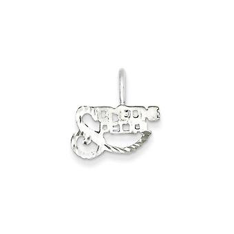 925 Sterling Silver Solid Polished and satin Someone Special Charm Pendant Necklace Jewelry Gifts for Women