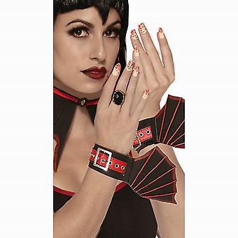 Bristol Novelty Womens/Ladies Vampiress Press On Nails