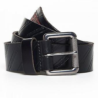 Superdry AOP Lineman Belt In A Tin Black Casual Leather Belt 02A