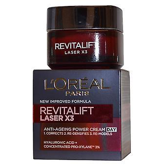 L'Oreal Revitalift Laser X3 Anti veroudering Power crème dag 50 ml nieuwe verbeterde formule