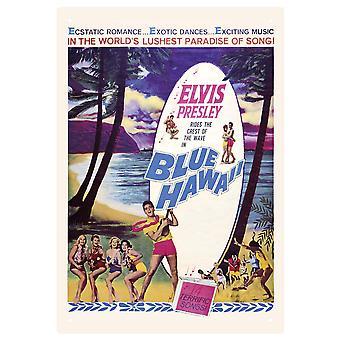 Elvis Blue Hawaii Tin Sign